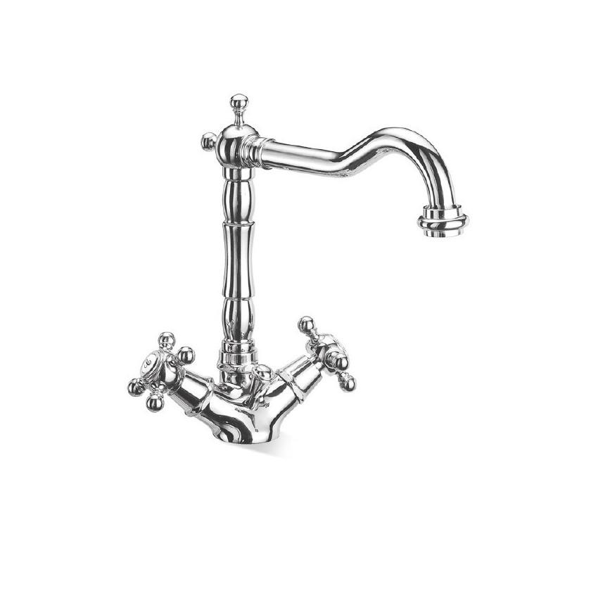 Robinets de salle de bain avec boutons, robinets de salle de bain classiques