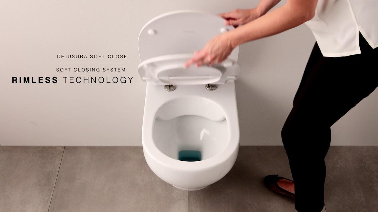 sanitaire sans bord sans vue sur le bord