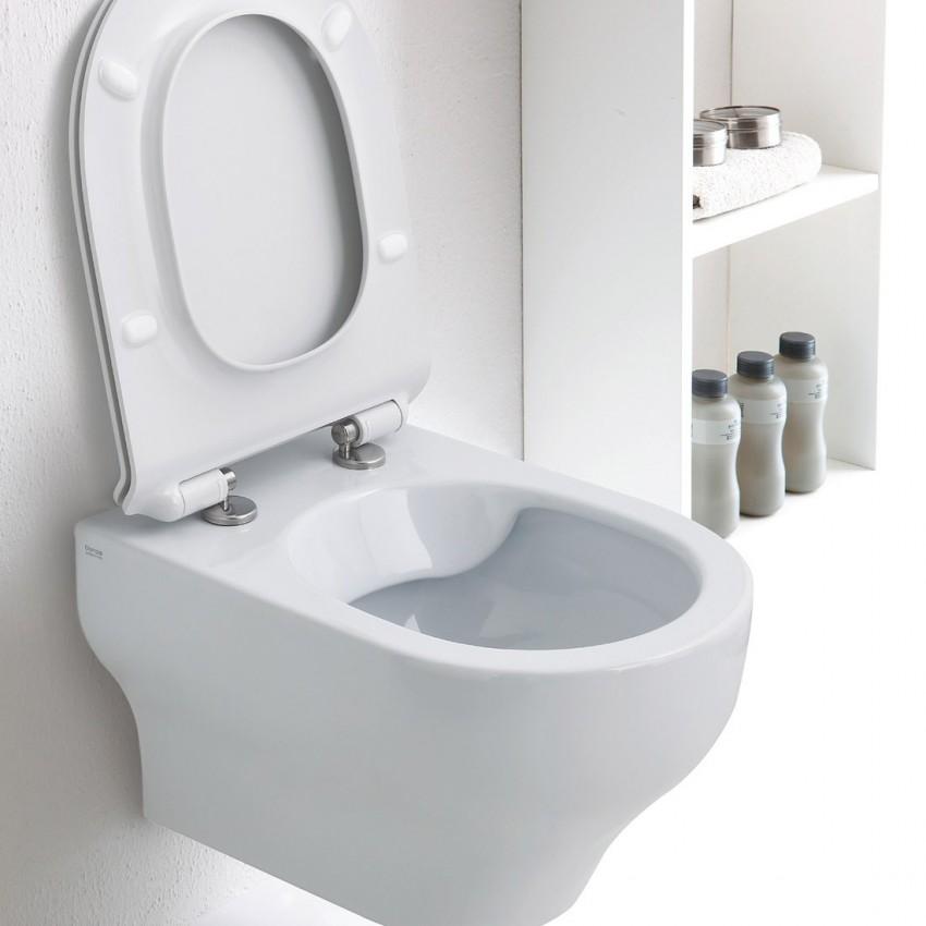 Toilettes suspendues sans rebord, WC suspendus sans rebord